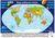 Świat mapa ścienna polityczna na podkładzie 1:40 000 000 - brak