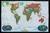 Świat Decorator mapa ścienna polityczna na podkładzie do wpinania 1:29 802 000 - brak