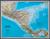 Ameryka Centralna Classic mapa ścienna polityczna na podkładzie 1:2 541 000 - brak