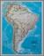 Ameryka Południowa Classic mapa ścienna polityczna na podkładzie do wpinania 1:7 072 000 - brak