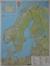 Skandynawia mapa ścienna drogowa arkusz papierowy 1:2 000 000 - brak