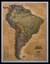 Ameryka Południowa Executive mapa ścienna polityczna na podkładzie 1:11 121 000 - brak