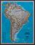 Ameryka Południowa Classic mapa ścienna polityczna na podkładzie 1:11 121 000 - brak