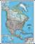 Ameryka Północna Classic mapa ścienna polityczna 1:8 950 000 - brak