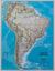Ameryka Południowa Classic mapa ścienna polityczna arkusz laminowany 1:7 072 000 - brak