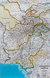 Afganistan, Pakistan Classic mapa ścienna polityczna arkusz papierowy 1:3 363 300 - brak