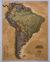 Ameryka Południowa Executive mapa ścienna polityczna arkusz papierowy 1:11 121 000 - brak