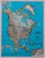 Ameryka Północna Classic mapa ścienna polityczna arkusz papierowy 1:14 009 000 - brak