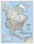 Ameryka Północna Classic mapa ścienna polityczna arkusz papierowy 1:8 950 000 - brak